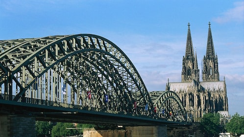 The bridge near the cathedral in Cologne