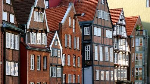 Brick residential apartments in Dusseldorf