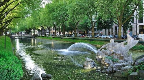 Park fountain in Duesseldorf