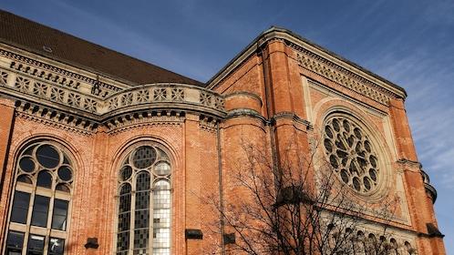 Intricate windows of a structure in Duesseldorf