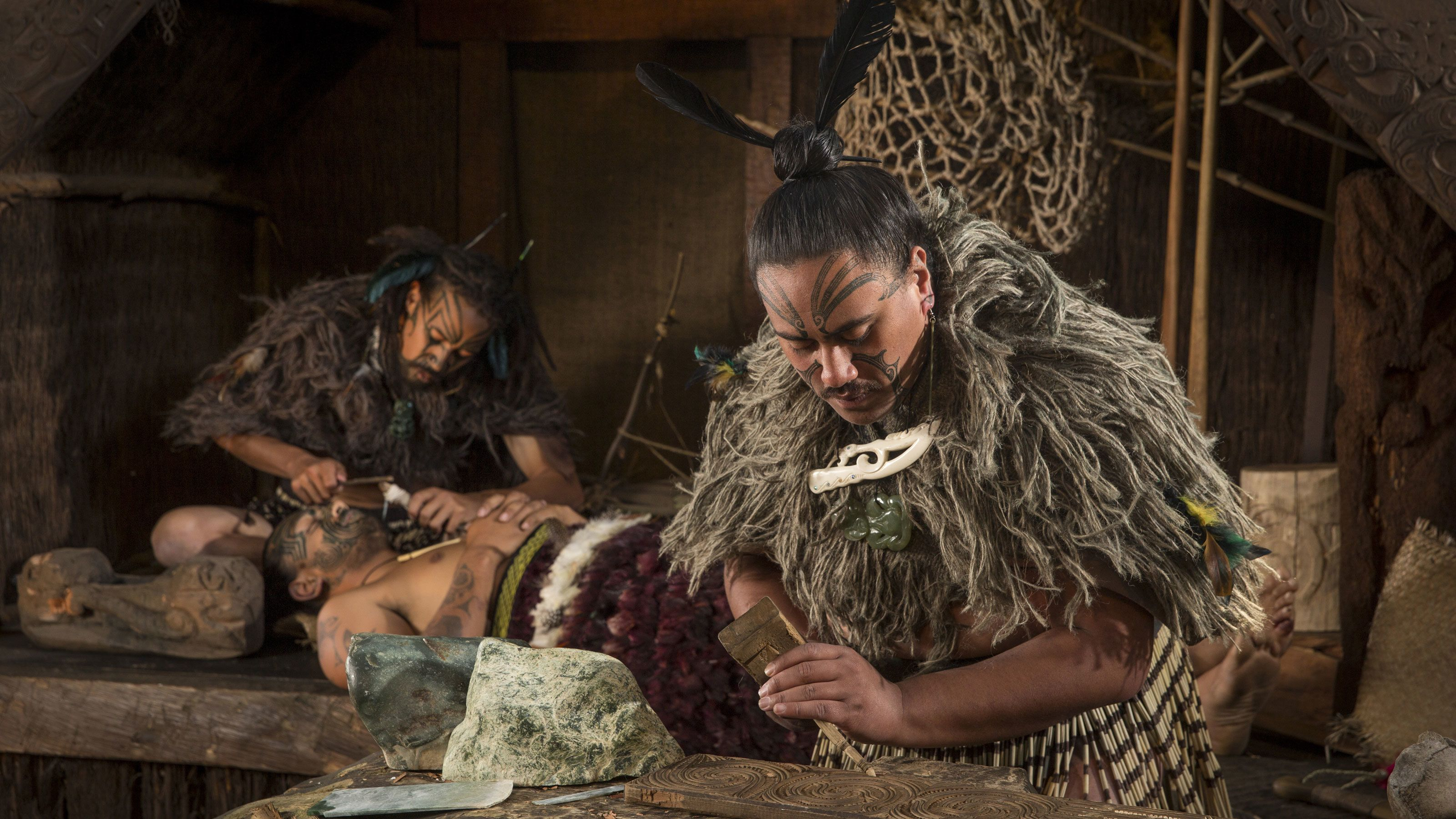 traditional tribal art in New Zealand