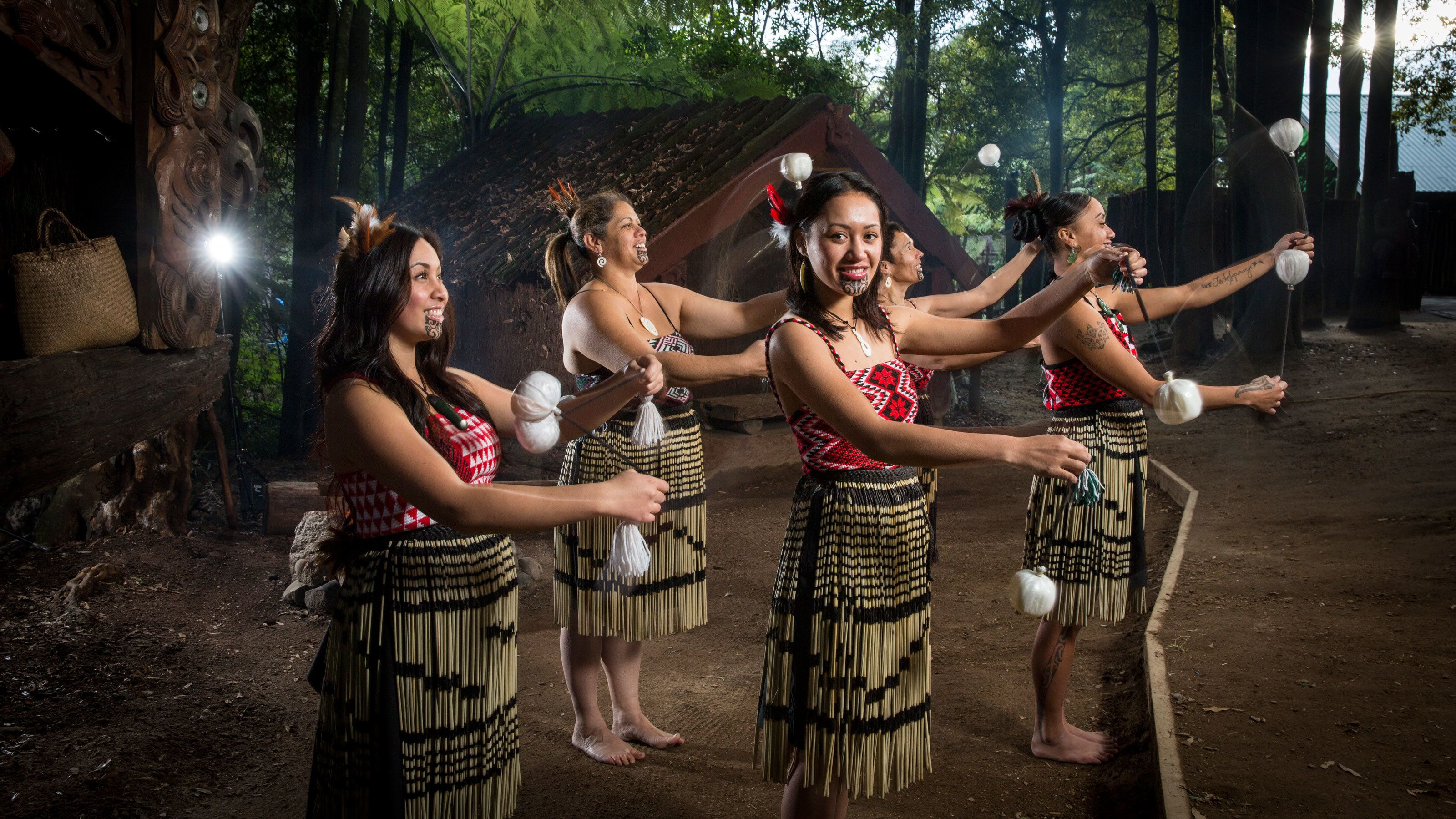 tribal woman performing dance in New Zealand