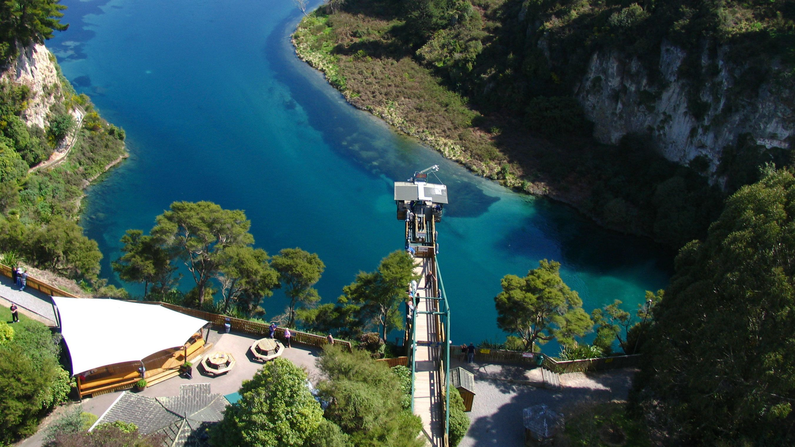 Bungy area from above
