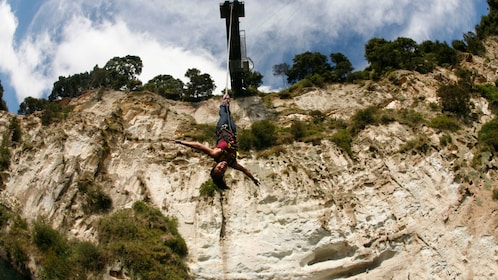 woman on bungy jump