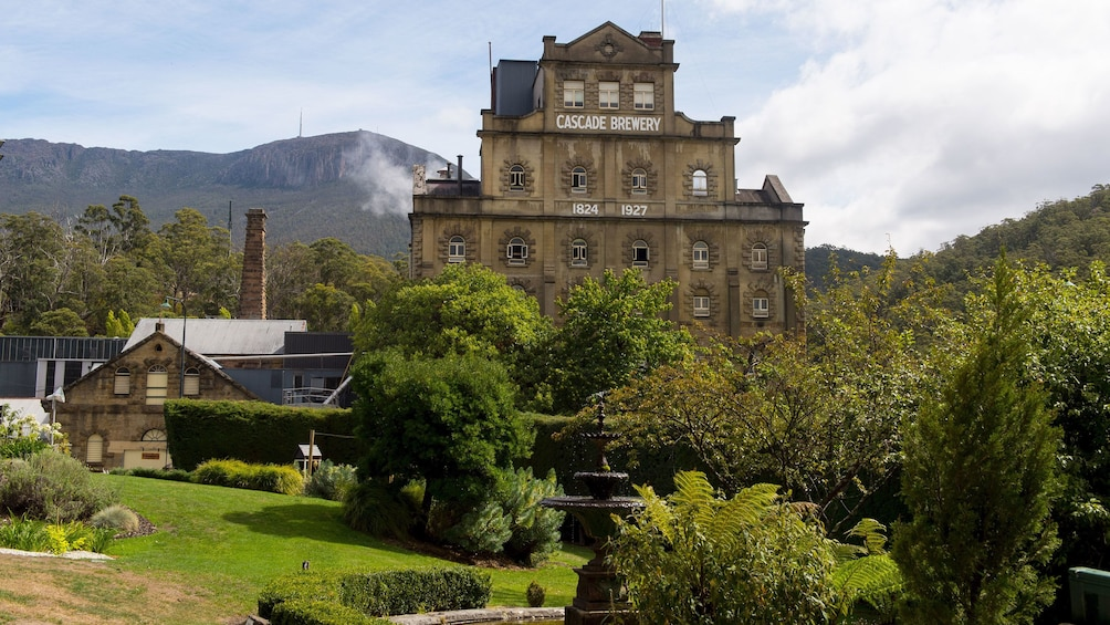 View of the building of the Cascade Brewery in Tasmania Australia