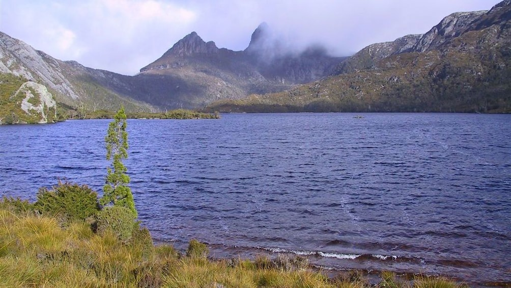 Show item 2 of 7. Dove Lake with Cradle Mountain in the background in Launceston