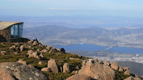 Beautiful view overlooking the city of Hobart