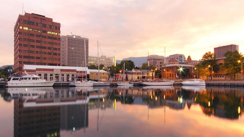 Gorgeous sunset view of Hobart
