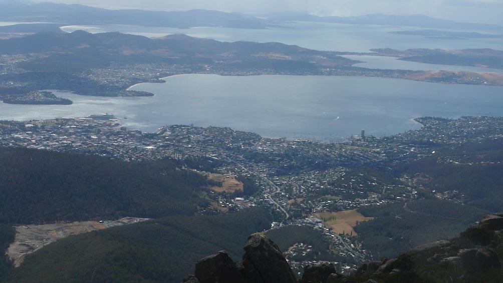 Overhead view of Hobart