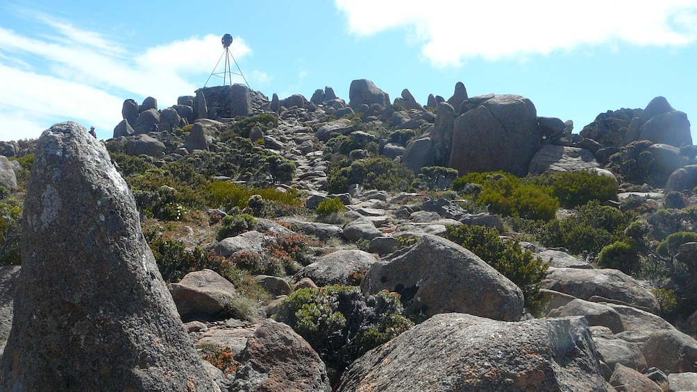 View of the rocks at the top of Mt. Wellington in Hobart