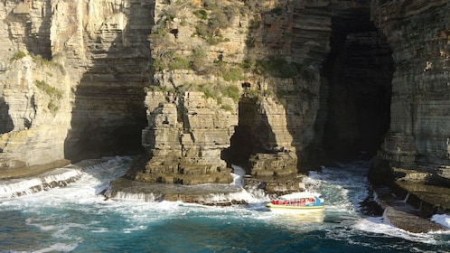 Amazing view of a boat cruise of the Tasman Peninsula