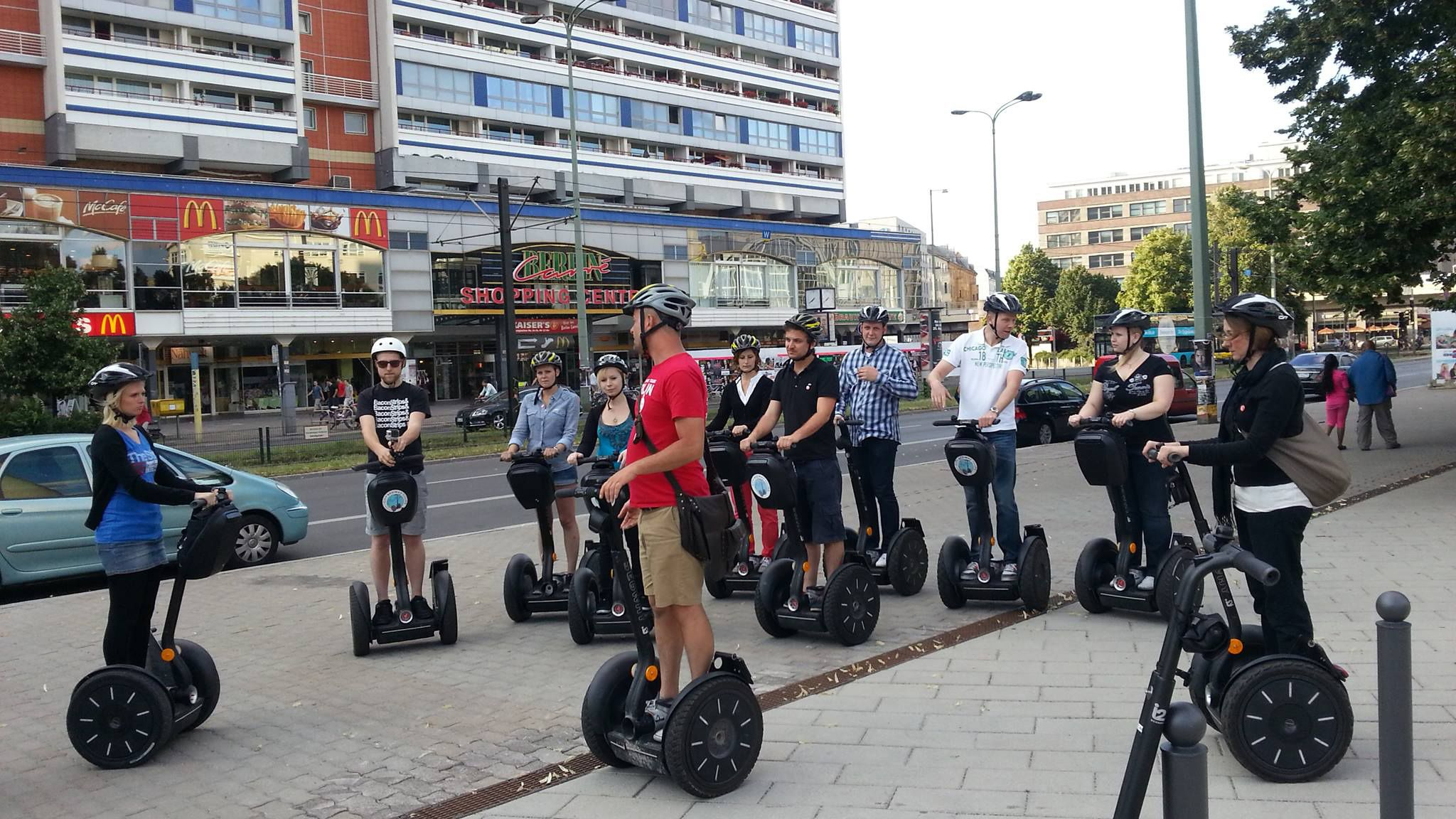 Segway tour group listening to their guide in Berlin