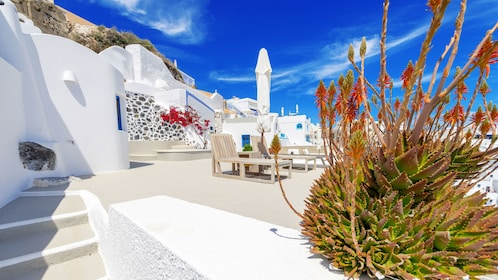 Stunning view of the roads and buildings in Mykonos
