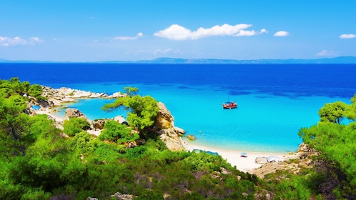 Island view of Mykonos