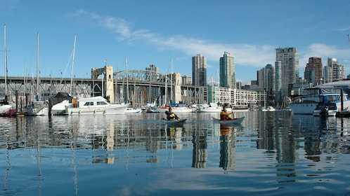 Kayaking near the city in Vancouver
