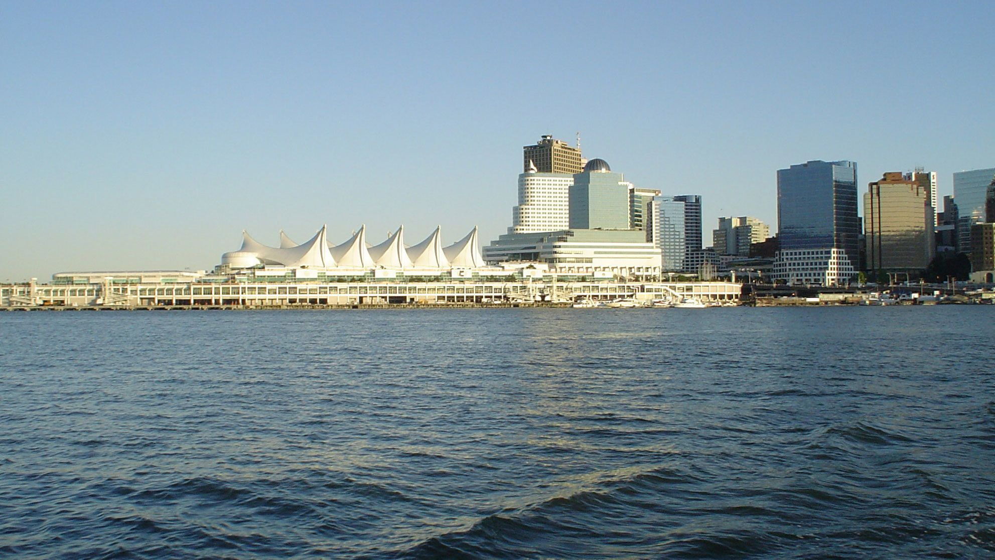 View of the city from the water in Vancouver