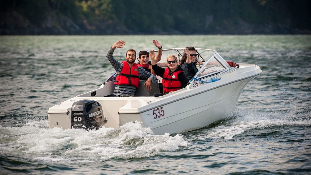 Show item 8 of 8. Rental boat ride in Vancover