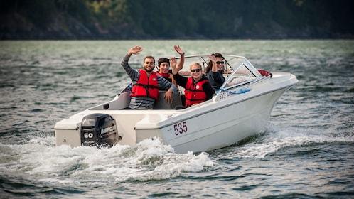 Rental boat ride in Vancover