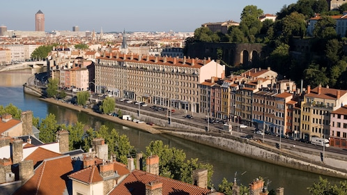 Aerial day view of Lyon City