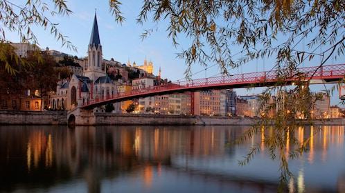 Bridge view in Lyon