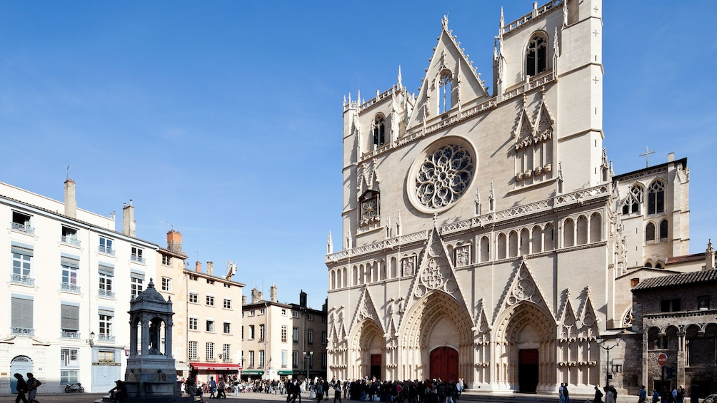 Show item 1 of 5. Lyon Cathedral Cathedral in Lyon France