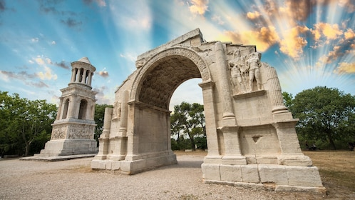 Mausoleum and Arch at the Roman archaeological site in Saint-Rémy-de-Provence