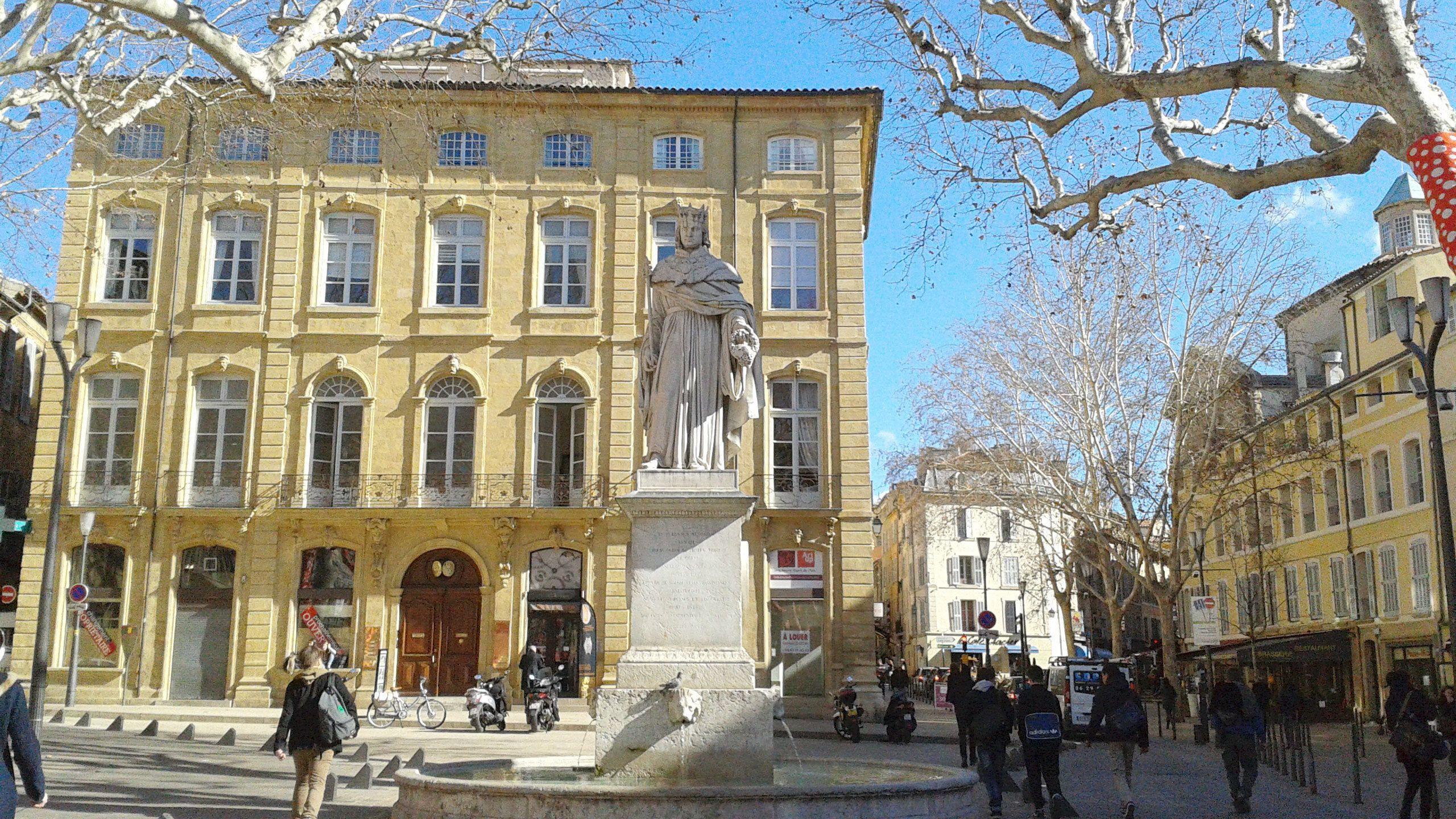 Street view of Aix-en-Provence