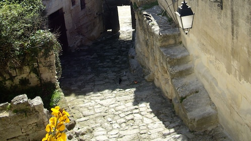 Cobbled stoned roads in Marseille