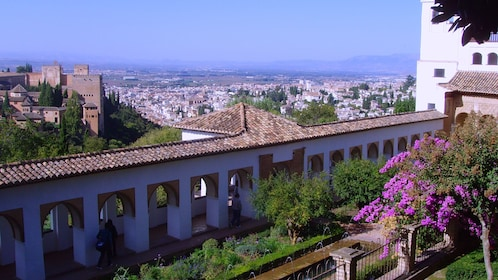 Gorgeous scenic view of the city of Granada, Spain