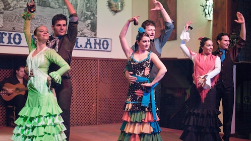 Flamenco Show Dancers performing at a show in Seville