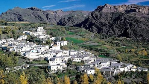 aerial city view in granada