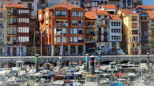Colorful buildings along the Basque Coast