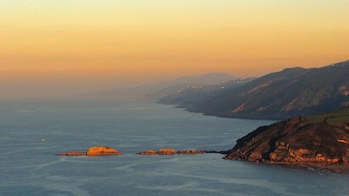 The Spanish coast at sunset