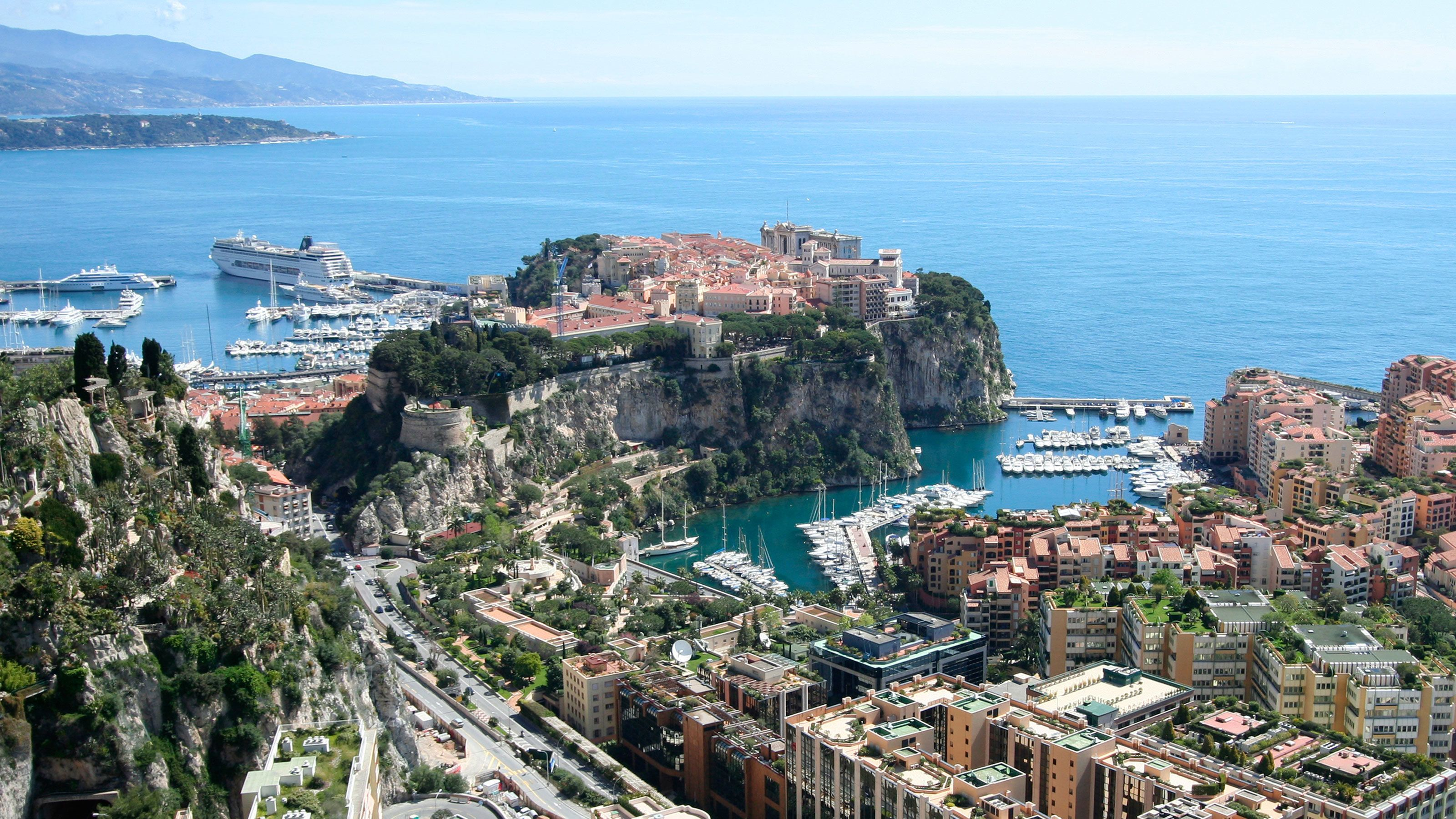 Aerial view of beautiful French Riviera