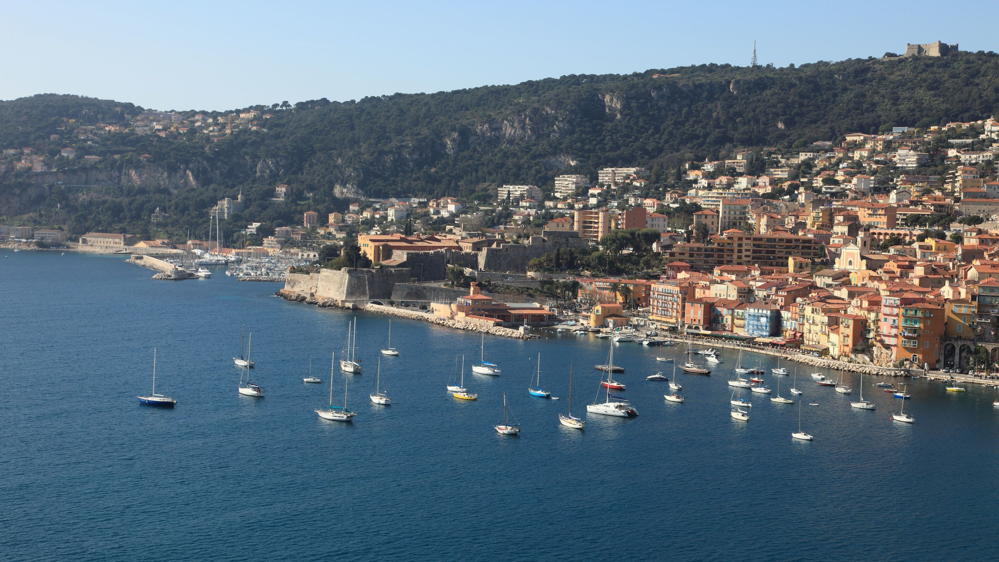 Panoramic view of the Beautiful old town of Monaco