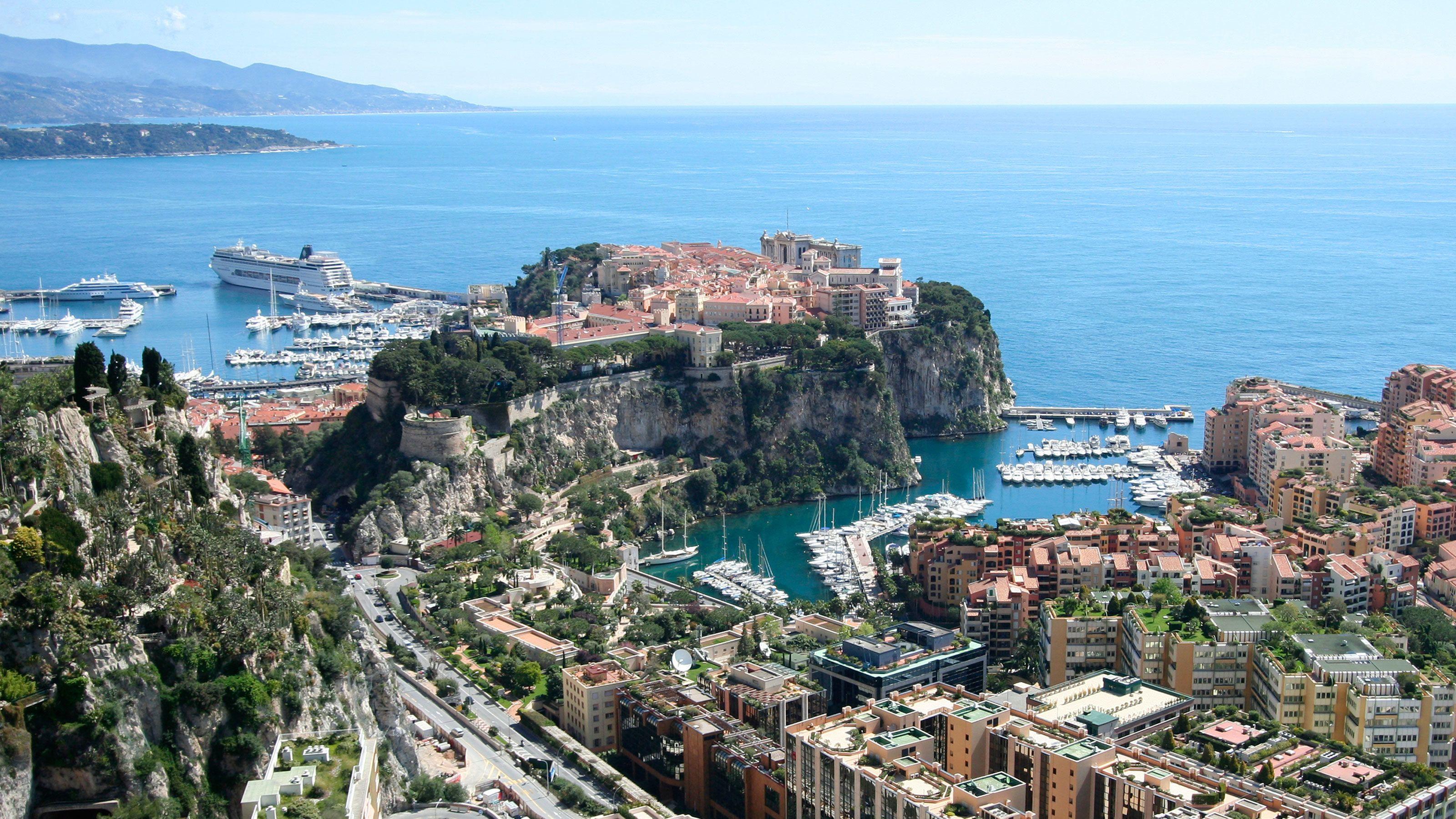 Sunny view of Monaco