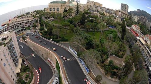Stunning aerial view of Monaco