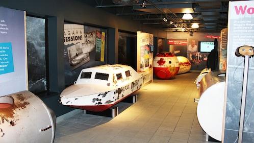 Historic boat displays inside the IMAX theatre in Niagara Falls