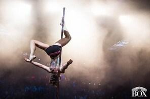Challenging pole dance lesson at Sportief Paaldansen