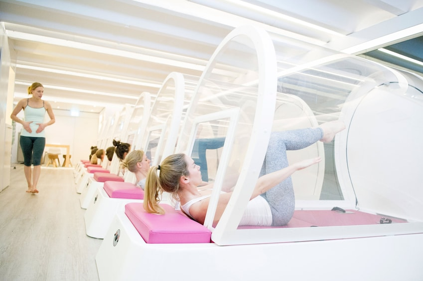 Latest form of pilates at bbb health boutique: hot pilates