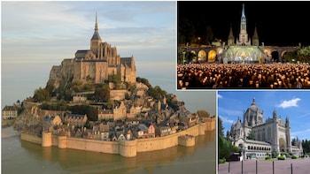 5-Day PRIVATE Paris: St.Teresa LISIEUX, Mt.St.MICHEL,LOURDES
