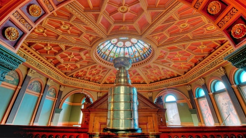 Stanley Cup on display in the Hockey Hall of Fame