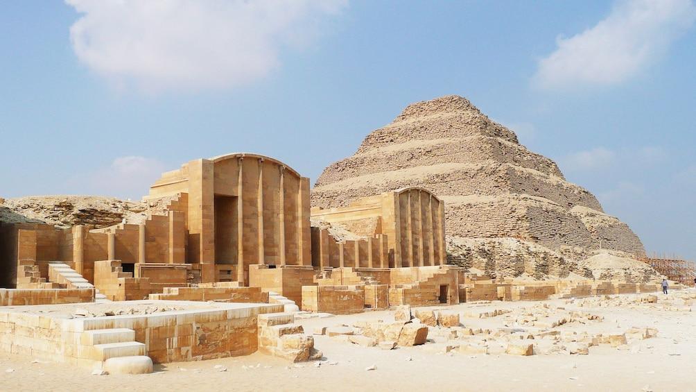 Show item 5 of 7. Landscape view of Sakkara Egypt