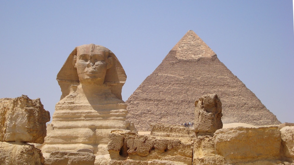 Show item 3 of 7. View of the great Egyptian pyramids