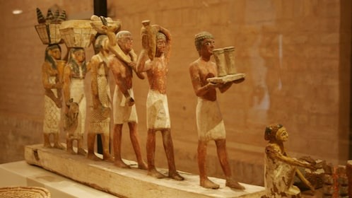 Egyptian artifacts in museum in Cairo