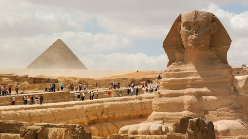 View of a pyramid in Cairo Egypt