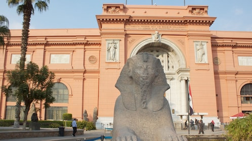 Sphinx outside the Egyptian Museum in Cairo