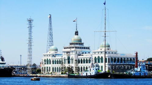 Landscape view of Suez Canal Authority building in Egypt