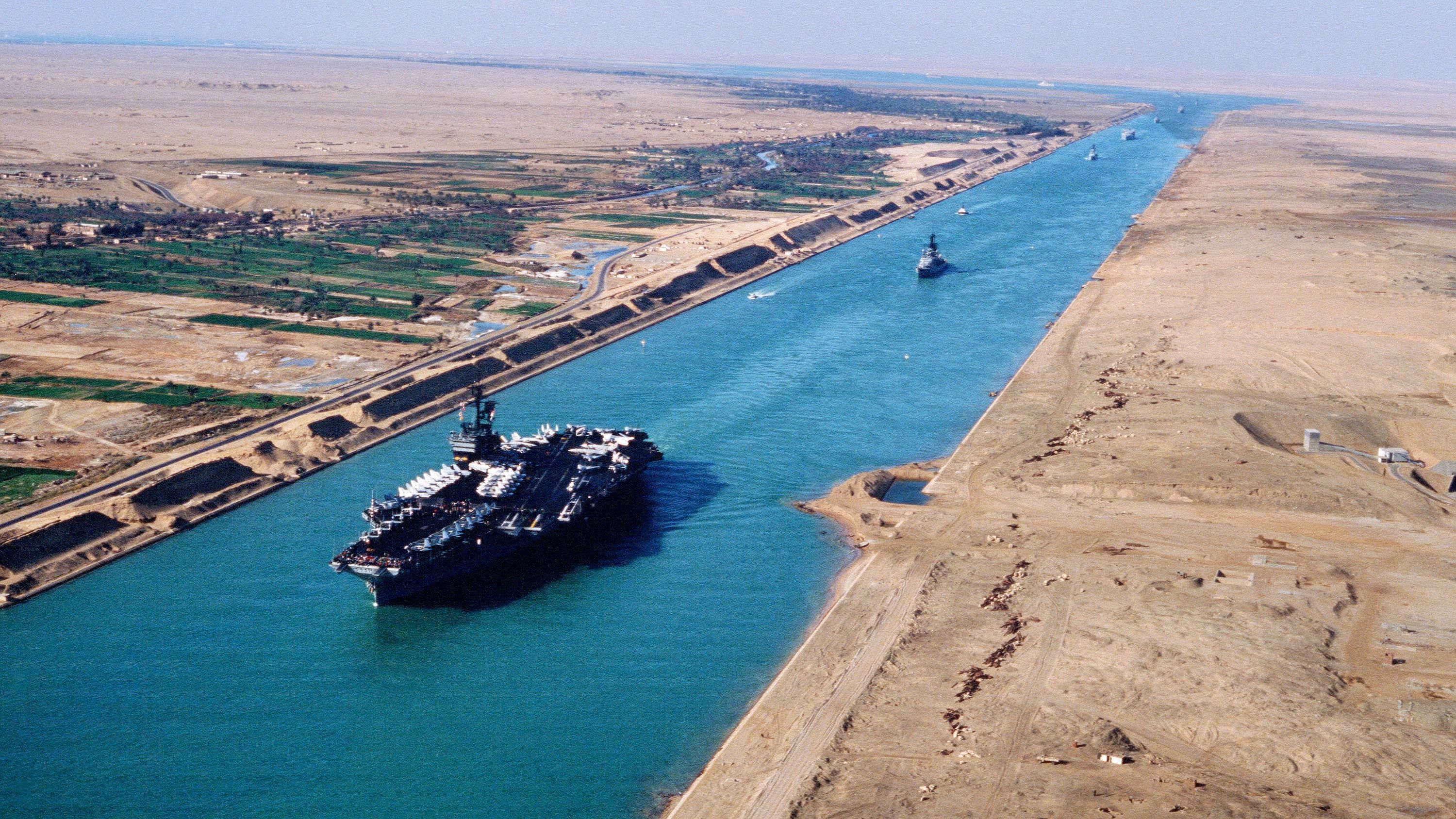 Boat ride at Suez Canal in Egypt