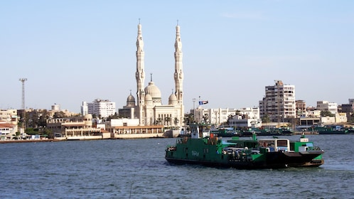 Boat ride on Port Said in Egypt
